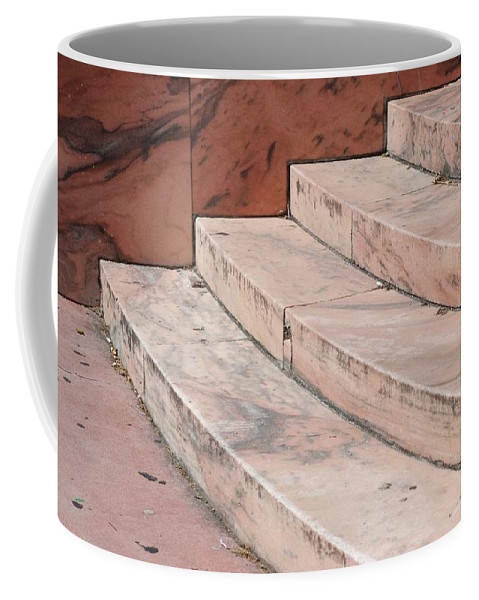 Architecture Coffee Mug featuring the photograph Art Deco Steps by Rob Hans