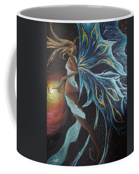 Figure Coffee Mug featuring the painting Art Is Magic by Glory Fraulein Wolfe