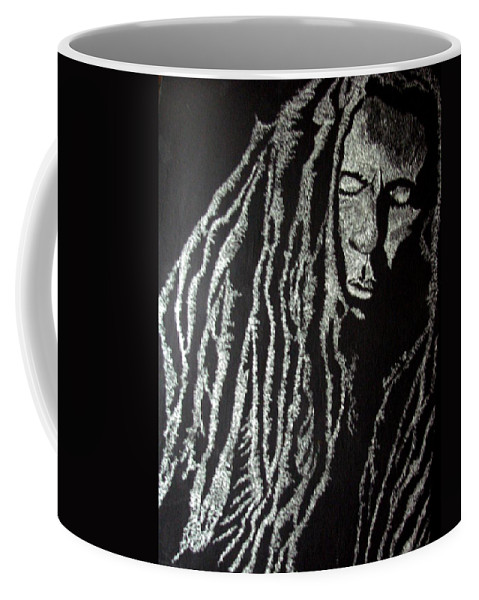 Portrait Coffee Mug featuring the painting Art Of Freedom by Glory Fraulein Wolfe