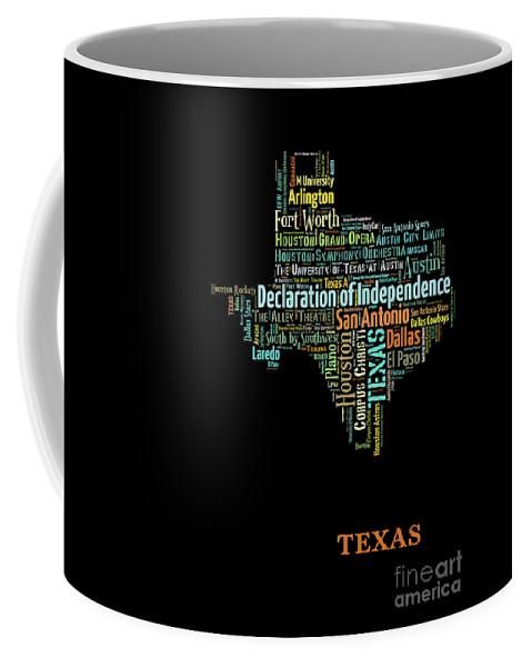 Art Map Coffee Mug featuring the digital art Art Print, Pop Art Texas Map, Modern Style Country Map, Country Maps For Home Decor, Pop Art Map Pri by Oleksandr Vaznichenko
