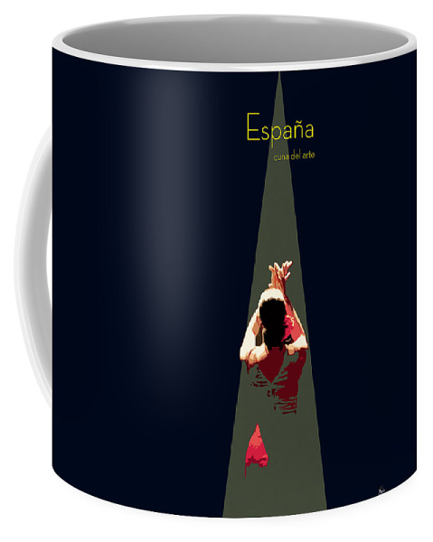 Dancer Coffee Mug featuring the digital art Arte Andaluz by Joaquin Abella