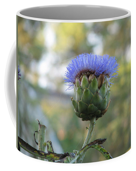 Artichoke Coffee Mug featuring the photograph Artichoke by Kelly Mezzapelle