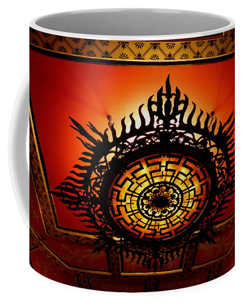 Sun Coffee Mug featuring the photograph Artificial Sun by Perggals - Stacey Turner