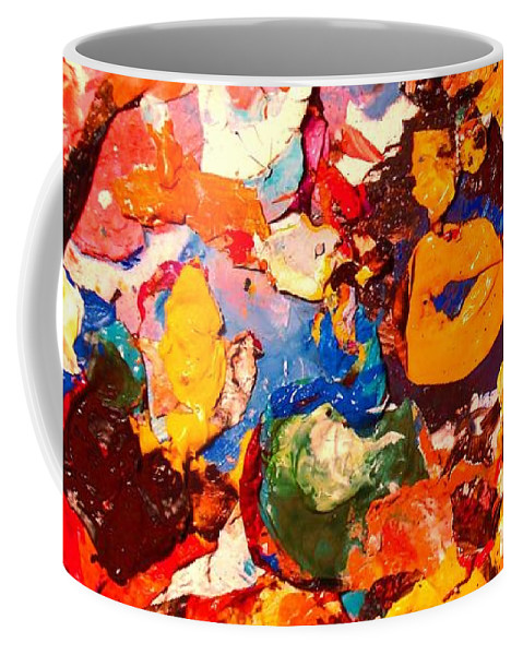 Artist Palette Coffee Mug featuring the painting Artist Palette by Natalie Holland