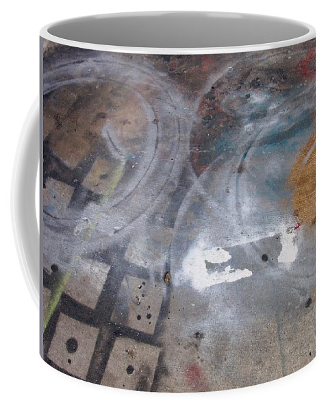 Artist Coffee Mug featuring the photograph Artist Sidewalk 3 by Anita Burgermeister