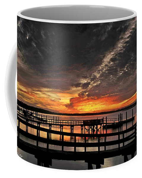 Sunset Coffee Mug featuring the photograph Artistic Black Sunset by Phill Doherty