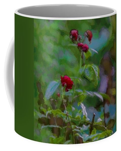 Artistic Coffee Mug featuring the photograph Artistic Last Rose by Leif Sohlman