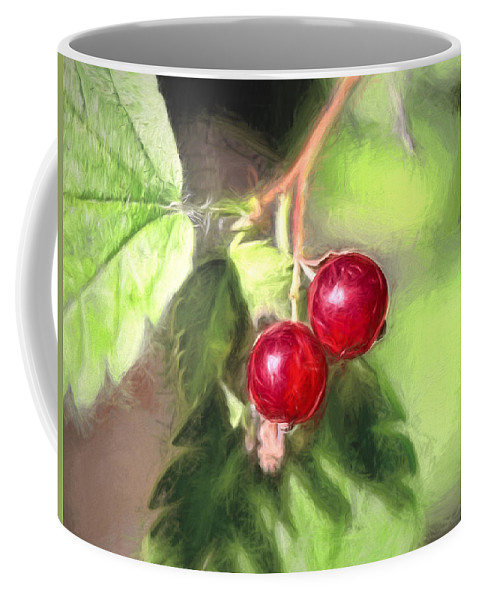 Artistic Coffee Mug featuring the photograph Artistic Panterly Two Wild Goosberries by Leif Sohlman
