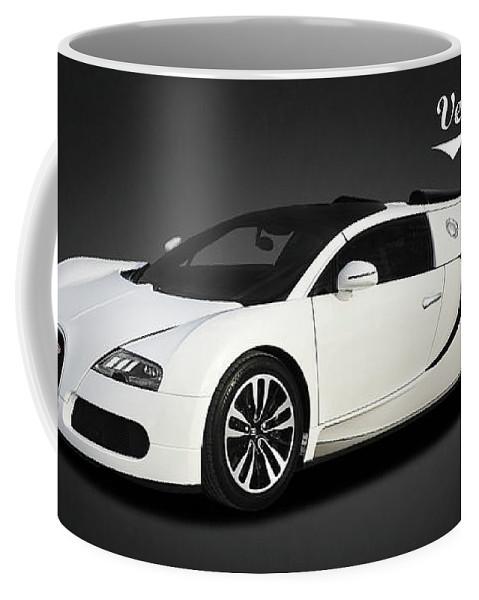 Bugatti Veyron Coffee Mug featuring the photograph Bugatti Veyron by Mark Rogan