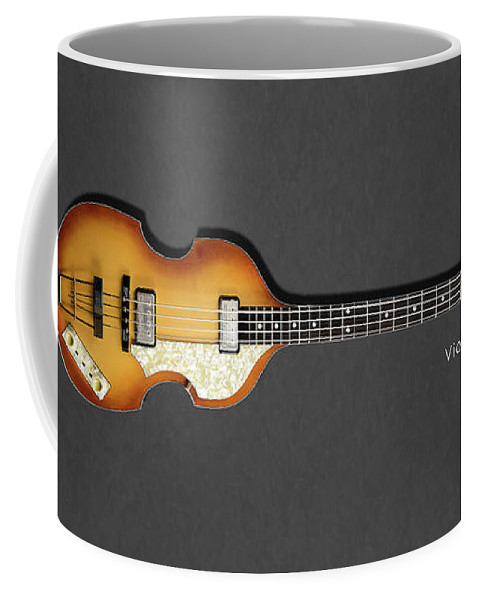 Hofner Violin Bass Coffee Mug featuring the photograph Hofner Violin Bass 62 by Mark Rogan