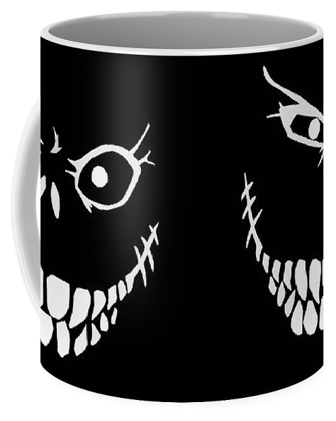 Monster Coffee Mug featuring the digital art Crazy Monster Grin by Nicklas Gustafsson