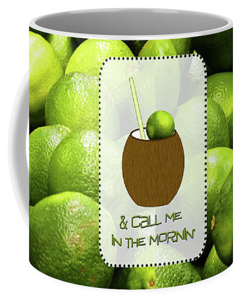 Lime In The Coconut Coffee Mug featuring the digital art Lime In The Coconut by Methune Hively