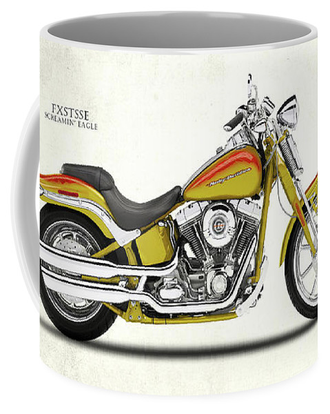Harley Davidson Coffee Mug featuring the photograph Harley Fxstsse Screamin Eagle by Mark Rogan