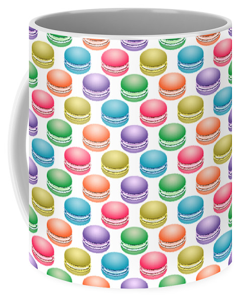 Cookie Coffee Mug featuring the digital art Colorful Pop Art Macarons by MM Anderson