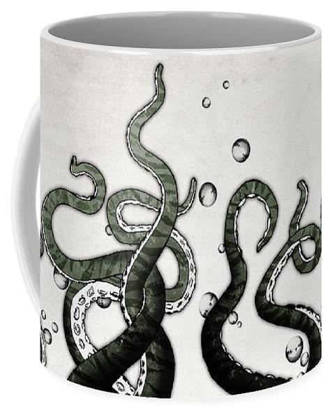 Octopus Coffee Mug featuring the digital art Octopus Tentacles by Nicklas Gustafsson