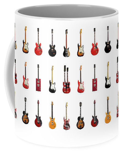 Fender Stratocaster Coffee Mug featuring the photograph Guitar Icons No2 by Mark Rogan
