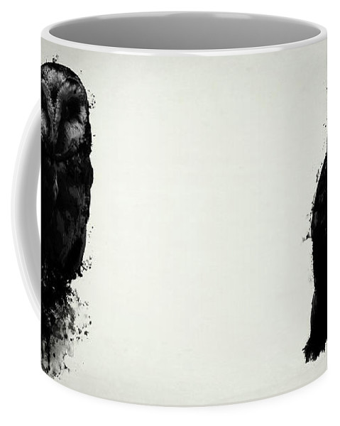 Owl Coffee Mug featuring the mixed media The Owl by Nicklas Gustafsson