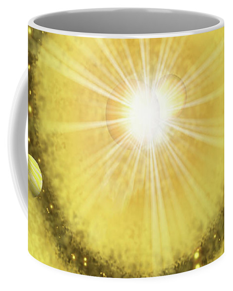 My Golden Universe Coffee Mug featuring the painting My Golden Universe by Methune Hively