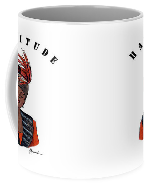 Hat Coffee Mug featuring the painting Hattitude #40 by Marcella Muhammad