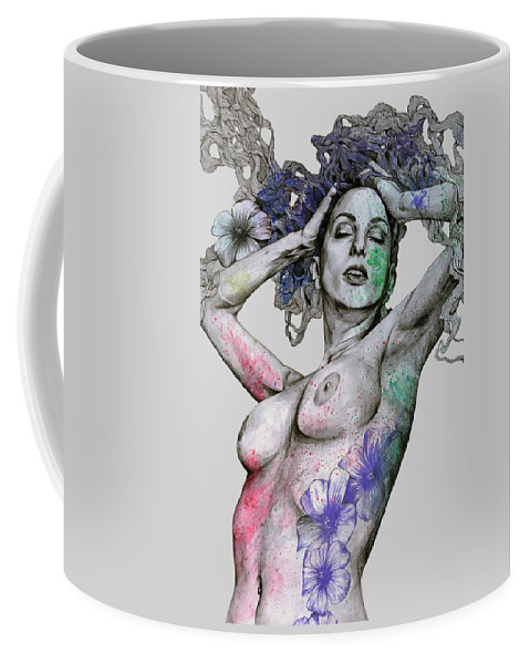 Nude Coffee Mug featuring the drawing Remembering Days Of Yore by Marco Paludet
