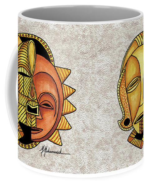 Mask Coffee Mug featuring the painting Mask 4 by Marcella Muhammad