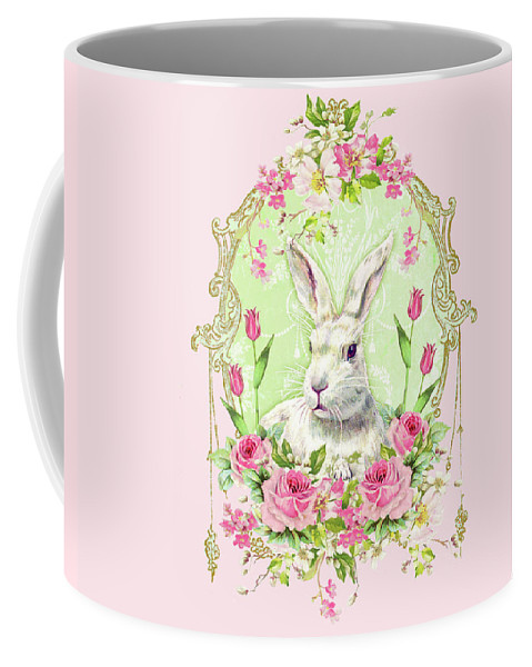 Rabbit Coffee Mug featuring the digital art Spring Bunny by Wendy Paula Patterson