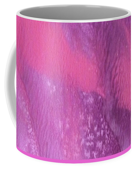 Lavender Coffee Mug featuring the painting Aura by Marcella Muhammad