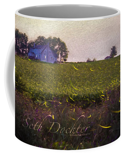 Fireflies Coffee Mug featuring the photograph 1300 - Fireflies Impression Version by Seth Dochter