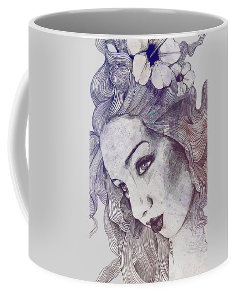Pencil Coffee Mug featuring the drawing The Lowest Common Denominator - Rainbow by Marco Paludet