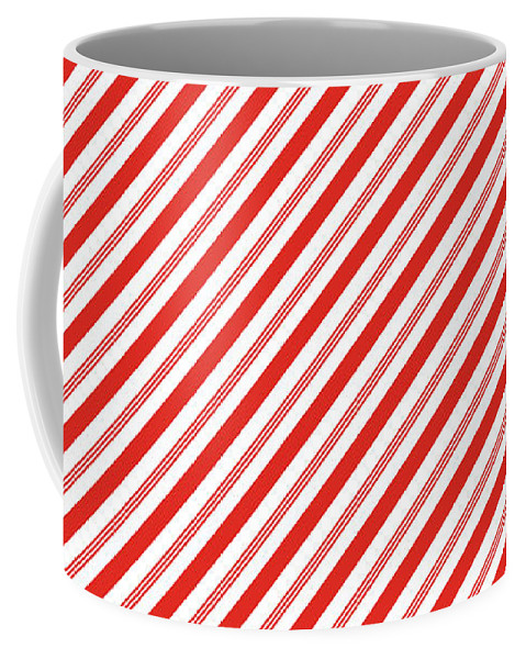 Candy Canes Stripes- Art By Linda Woods Coffee Mug