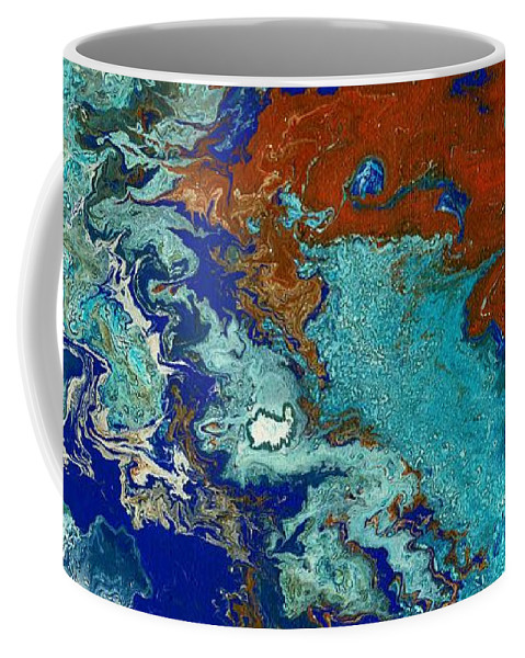 Paint Pouring Coffee Mug featuring the painting Treasure Island by Janremi B