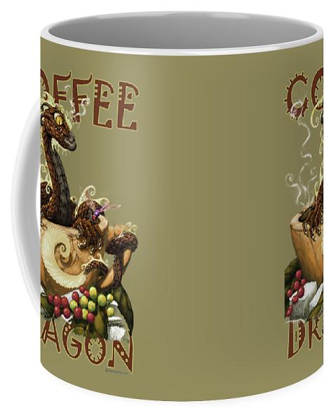 Dragon Coffee Mug featuring the digital art Coffee Dragon by Stanley Morrison