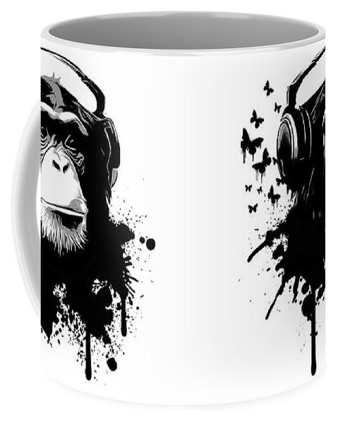 Ape Coffee Mug featuring the digital art Monkey Business by Nicklas Gustafsson