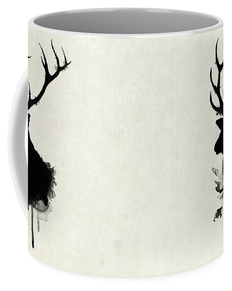 Elk Coffee Mug featuring the drawing Elk by Nicklas Gustafsson
