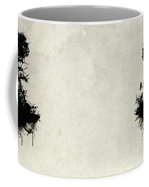 Nature Coffee Mug featuring the painting Last Tree Standing by Nicklas Gustafsson