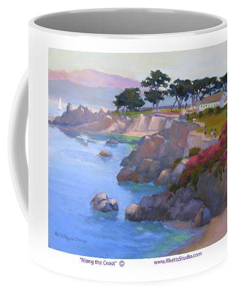 California Coffee Mug featuring the painting Along The Coast by Rhett Regina Owings