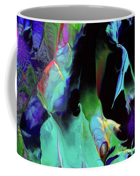 Outer Space Coffee Mug featuring the painting Webbed Galaxy by Nan Bilden