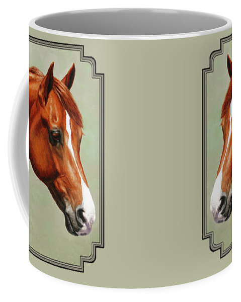 Horse Coffee Mug featuring the painting Morgan Horse - Flame by Crista Forest