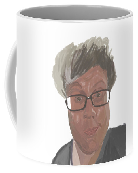 Portrait Coffee Mug featuring the digital art Artyom by Vladislav Antonenko
