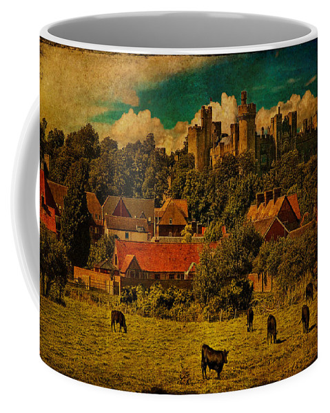 Cows Coffee Mug featuring the photograph Arundel Castle With Cows by Chris Lord