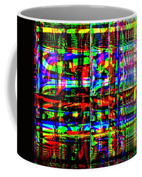 Red Coffee Mug featuring the digital art Arwoe by Blind Ape Art