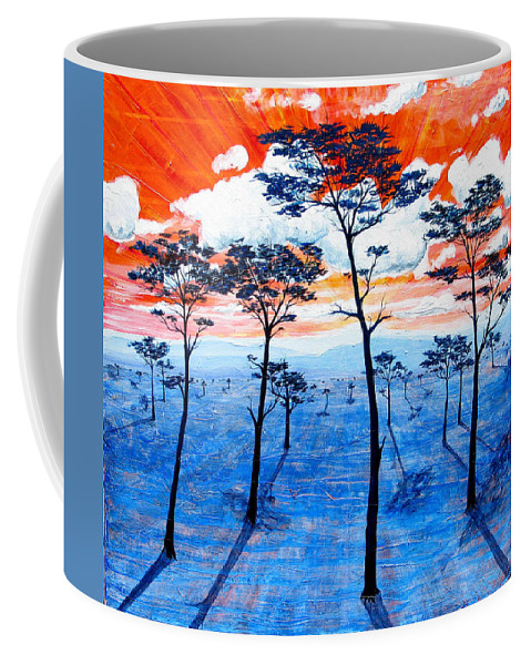 Landscape Coffee Mug featuring the painting As It Was In The Beginning by Rollin Kocsis