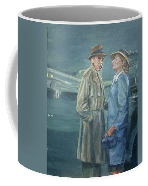 Casablanca Coffee Mug featuring the painting As Time Goes By by Bryan Bustard