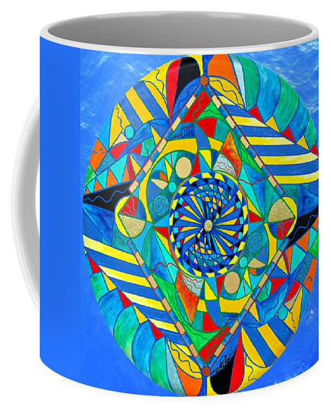 Vibration Coffee Mug featuring the painting Ascended Reunion by Teal Eye Print Store