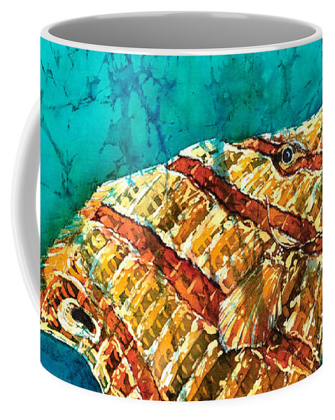 Beaked Butterflyfish Coffee Mug featuring the painting Ascending by Sue Duda