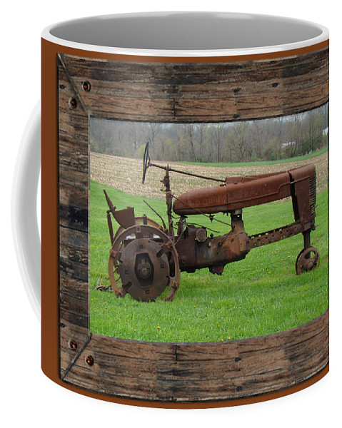 Tractor Coffee Mug featuring the photograph Ashes To Ashes - Rust To Rust by Mother Nature