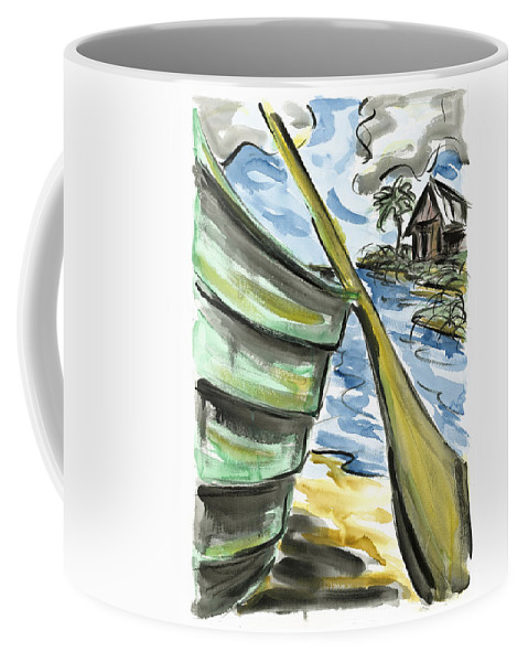 Seascape Coffee Mug featuring the painting Ashore by Robert Joyner