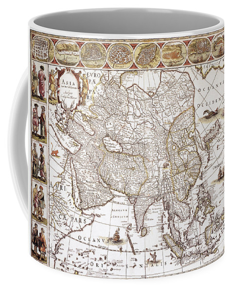 1618 Coffee Mug featuring the photograph Asia: Map, C1618 by Granger