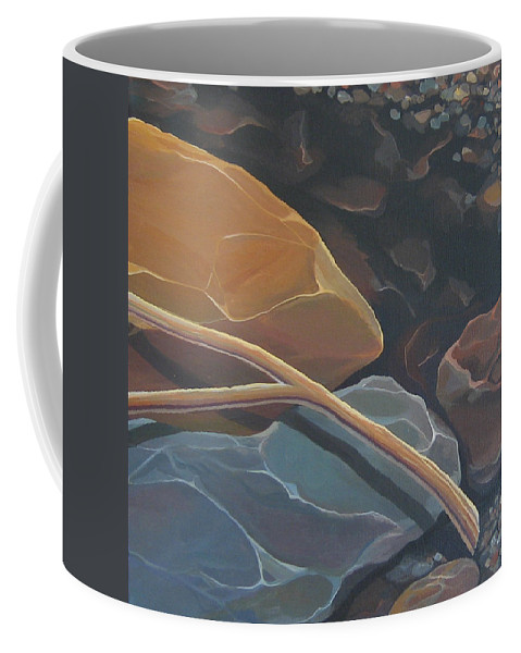 Branch Coffee Mug featuring the painting Aspen Rain Branch by Hunter Jay