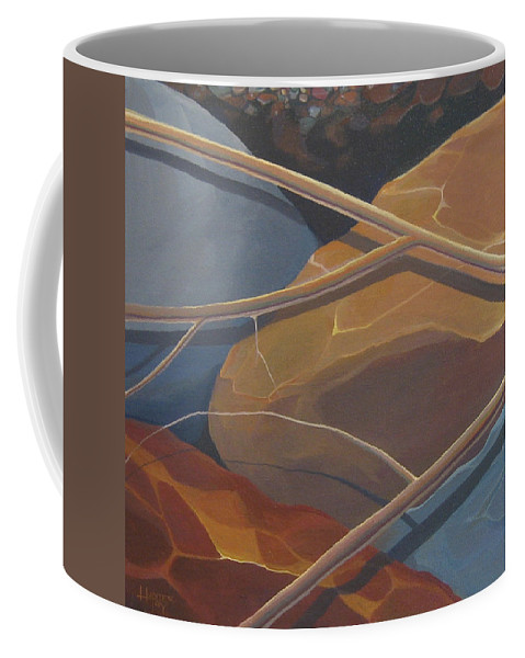 Branch Coffee Mug featuring the painting Aspen Rain Branch2 by Hunter Jay